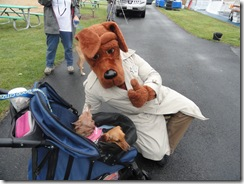Mascot with Dogs photo